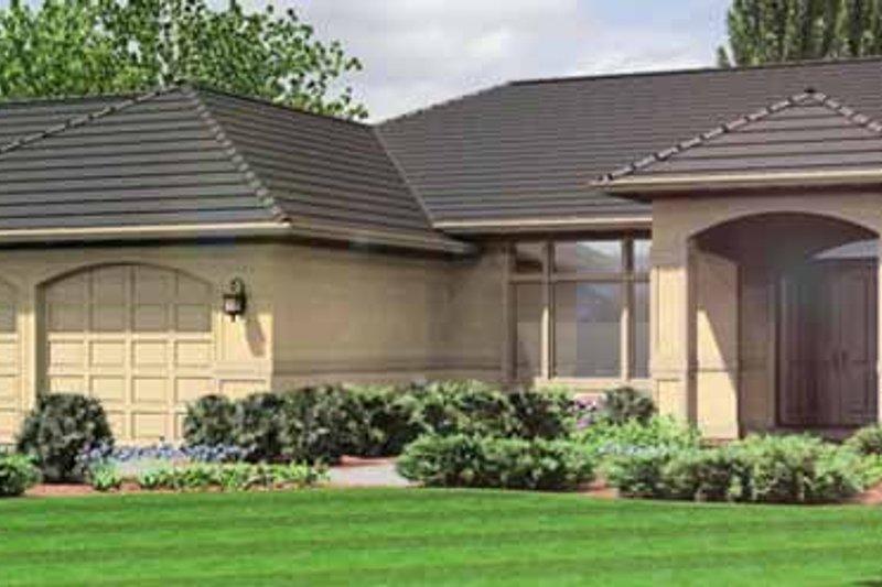 House Plan Design - Mediterranean Exterior - Front Elevation Plan #966-11