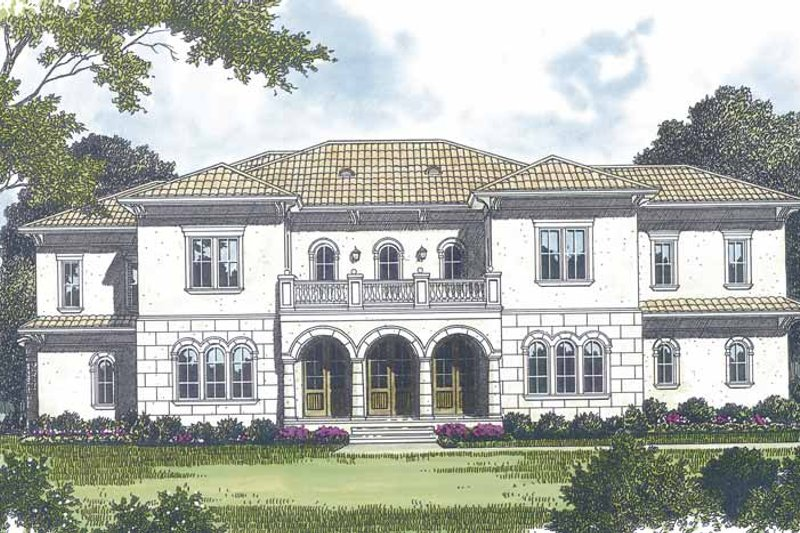 Mediterranean Exterior - Front Elevation Plan #453-598
