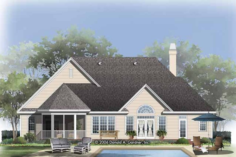 Craftsman Exterior - Rear Elevation Plan #929-826 - Houseplans.com
