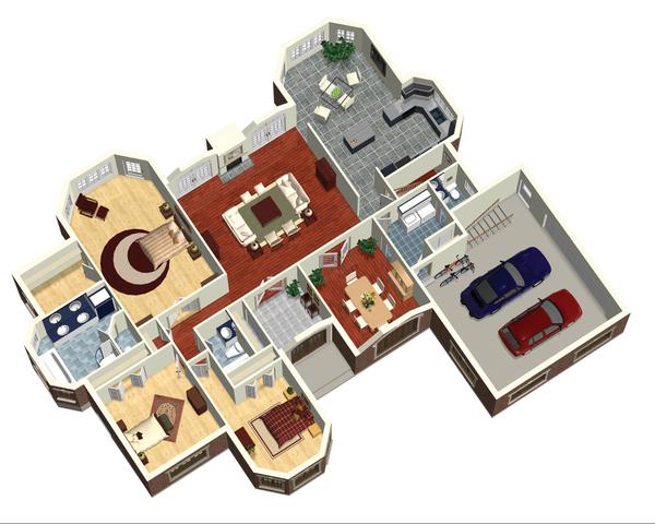 European Floor Plan - Main Floor Plan Plan #25-4330