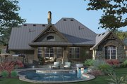 Country Style House Plan - 3 Beds 2.5 Baths 2106 Sq/Ft Plan #120-243 Exterior - Rear Elevation