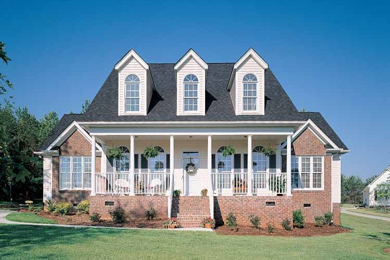 Architectural House Design - Country Exterior - Front Elevation Plan #929-147