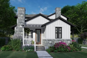 Cottage Exterior - Front Elevation Plan #120-267
