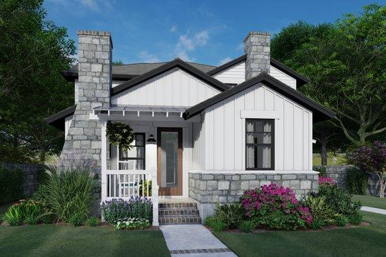 Cottage Exterior - Front Elevation Plan #120-267