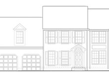 Colonial Exterior - Front Elevation Plan #1053-66