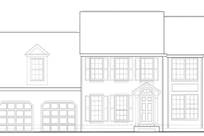 Colonial Front Elevation : Colonial style house plan beds baths sq ft
