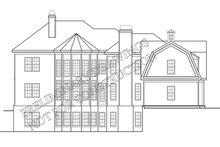 Classical Exterior - Rear Elevation Plan #927-845