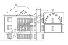 Classical Exterior - Rear Elevation Plan #927-845