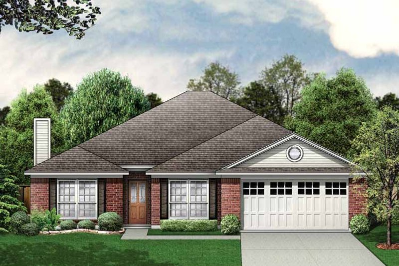 House Plan Design - Traditional Exterior - Front Elevation Plan #84-766