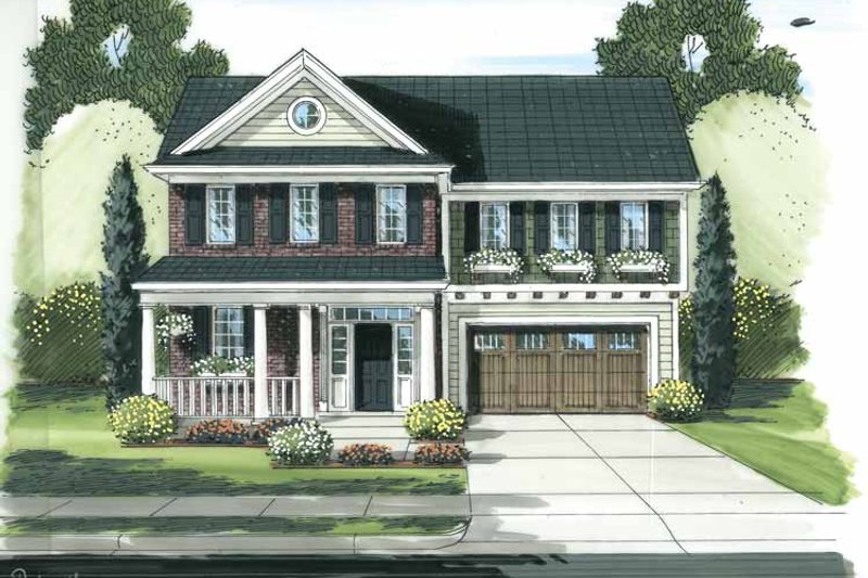 Traditional Exterior - Front Elevation Plan #46-811 - Houseplans.com
