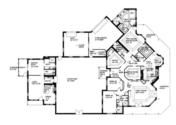 Ranch Floor Plan - Main Floor Plan Plan #117-847