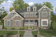 Dream House Plan - Traditional Exterior - Front Elevation Plan #56-679