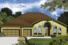 Dream House Plan - Contemporary Exterior - Front Elevation Plan #1015-46