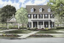 Home Plan - Contemporary Exterior - Front Elevation Plan #17-2871