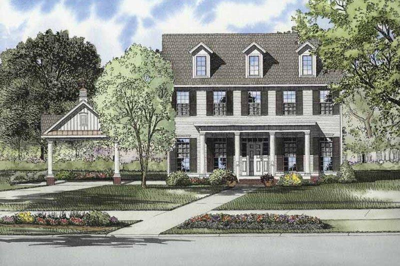 Contemporary Exterior - Front Elevation Plan #17-2871 - Houseplans.com