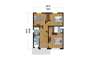 Contemporary Style House Plan - 3 Beds 2.5 Baths 1604 Sq/Ft Plan #25-4874 Floor Plan - Upper Floor
