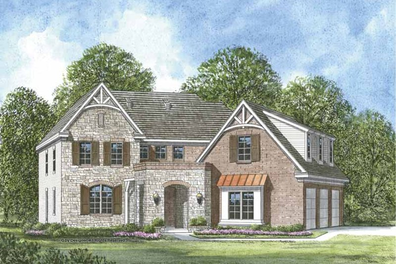 Architectural House Design - European Exterior - Front Elevation Plan #952-205