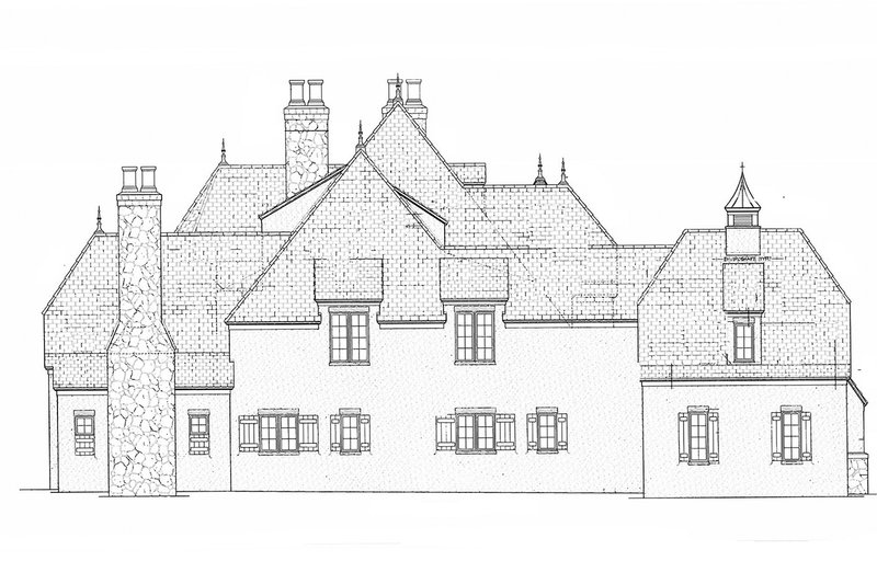 European Exterior - Other Elevation Plan #453-608 - Houseplans.com