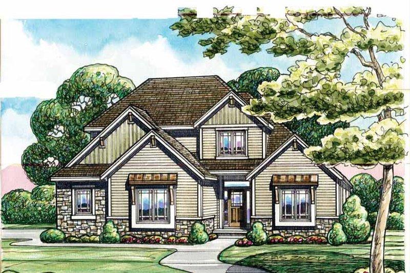 Craftsman Exterior - Front Elevation Plan #20-2243 - Houseplans.com
