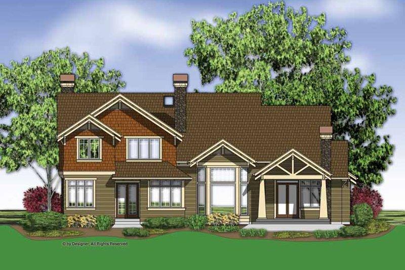 Traditional Exterior - Rear Elevation Plan #48-877 - Houseplans.com