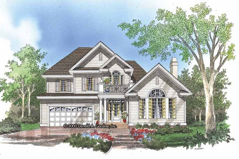 Dream House Plan - Traditional Exterior - Front Elevation Plan #929-584
