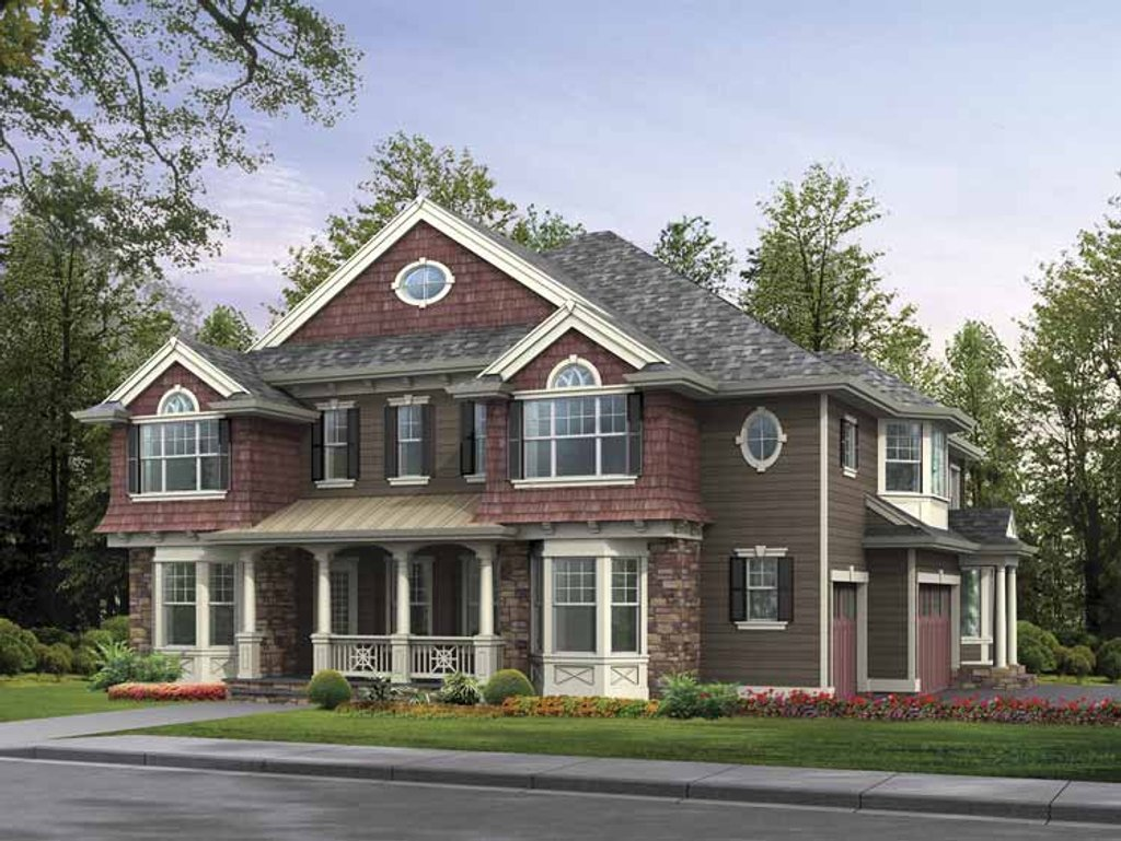Craftsman style house plan 5 beds 5 5 baths 4903 sq ft for Craftsman vs mission style