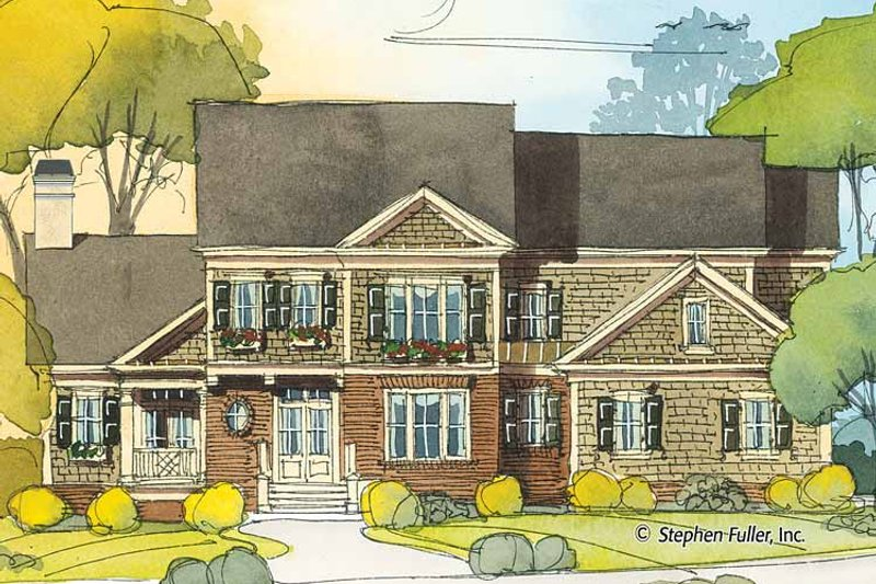 Country Exterior - Front Elevation Plan #429-415 - Houseplans.com