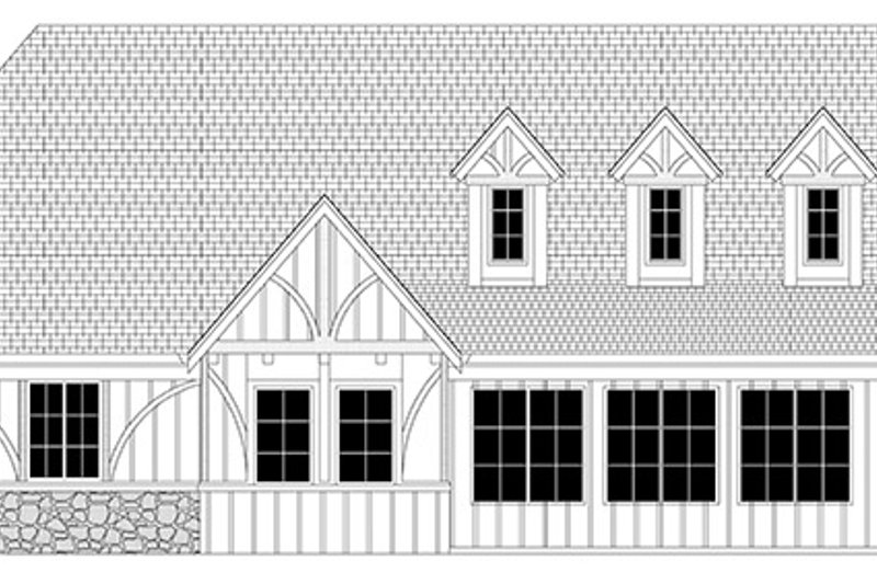 Tudor Exterior - Rear Elevation Plan #943-44 - Houseplans.com