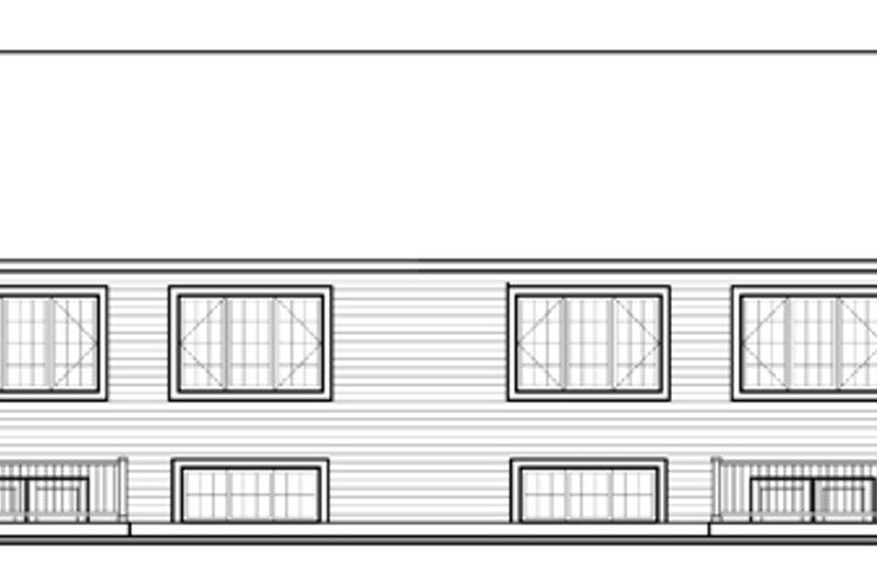 Country Exterior - Rear Elevation Plan #23-2594 - Houseplans.com