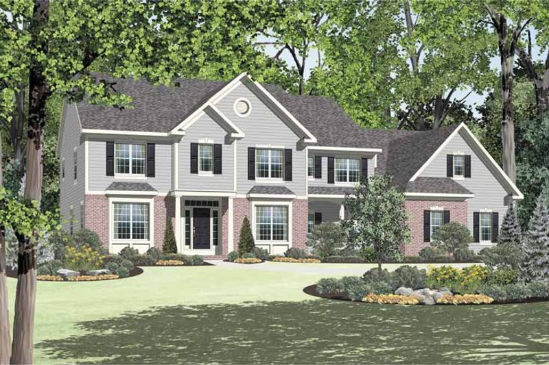 Dream House Plan - Colonial Exterior - Front Elevation Plan #328-449