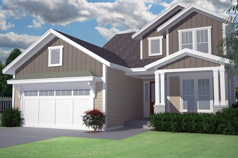Craftsman Exterior - Front Elevation Plan #991-32 - Houseplans.com