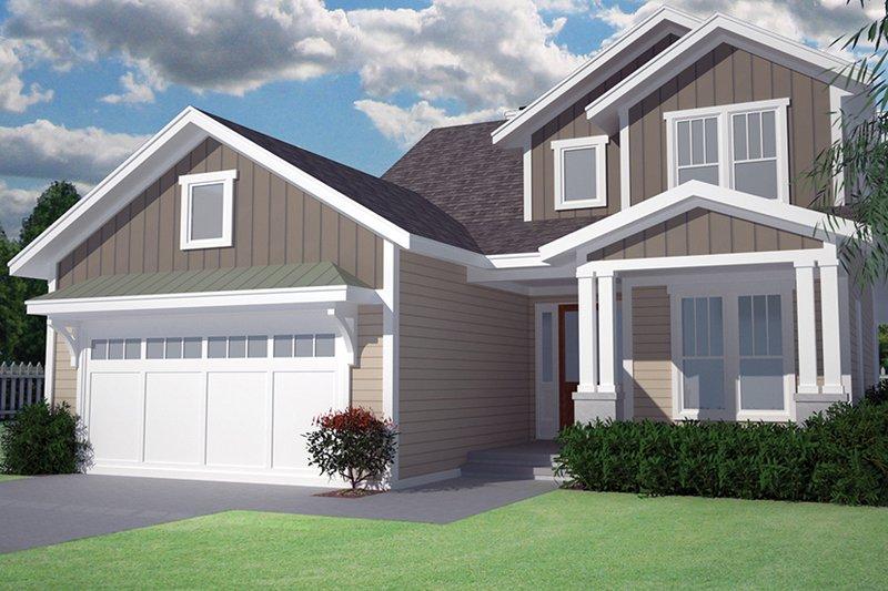 Architectural House Design - Craftsman Exterior - Front Elevation Plan #991-32