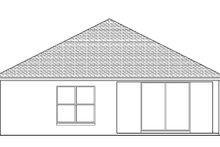 Adobe / Southwestern Exterior - Rear Elevation Plan #1058-94