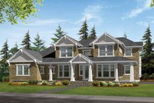 Architectural House Design - Craftsman Exterior - Front Elevation Plan #132-468