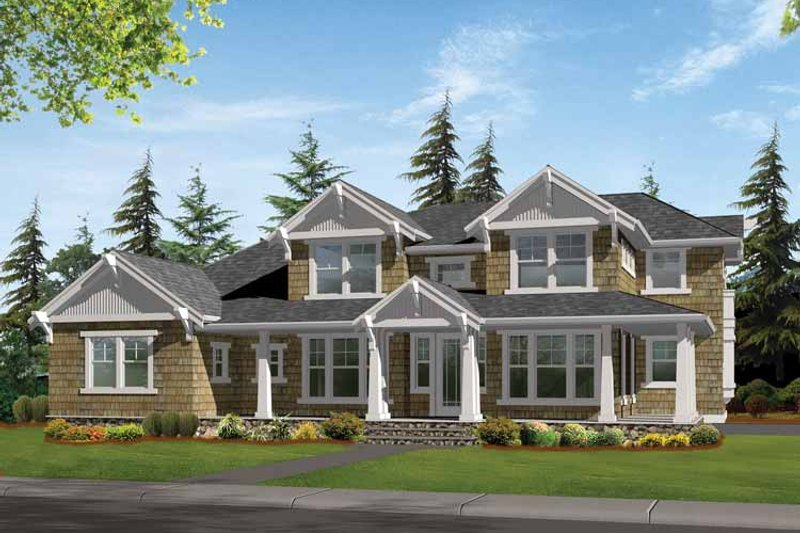 Craftsman Exterior - Front Elevation Plan #132-468