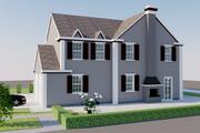 European Style House Plan - 4 Beds 4 Baths 3180 Sq/Ft Plan #542-15