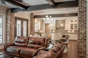 European Style House Plan - 3 Beds 2 Baths 2487 Sq/Ft Plan #430-154 Interior - Family Room