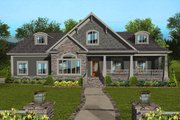 Craftsman Style House Plan - 4 Beds 3 Baths 2234 Sq/Ft Plan #56-713 Exterior - Front Elevation