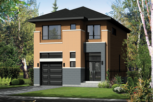 Contemporary Exterior - Front Elevation Plan #25-4564