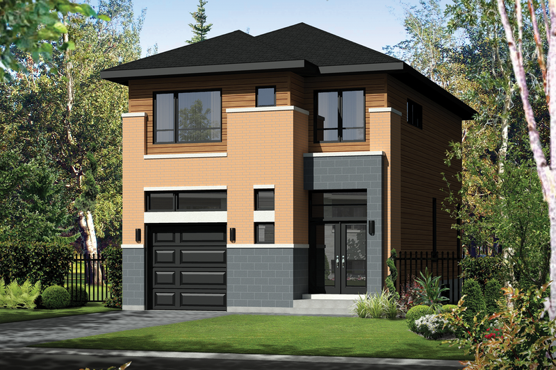 Contemporary Style House Plan - 3 Beds 1 Baths 1699 Sq/Ft Plan #25-4564 Exterior - Front Elevation