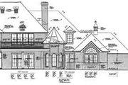 European Style House Plan - 4 Beds 4.5 Baths 4138 Sq/Ft Plan #310-237 Exterior - Rear Elevation