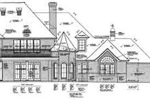Dream House Plan - European Exterior - Rear Elevation Plan #310-237
