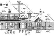 Architectural House Design - European Exterior - Rear Elevation Plan #310-237