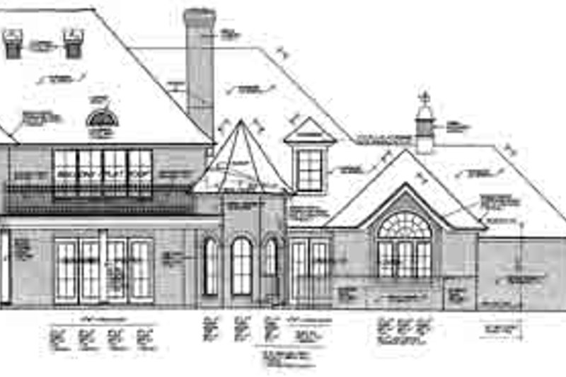 European Exterior - Rear Elevation Plan #310-237 - Houseplans.com