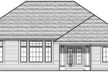 Home Plan Design - Traditional Exterior - Rear Elevation Plan #70-827