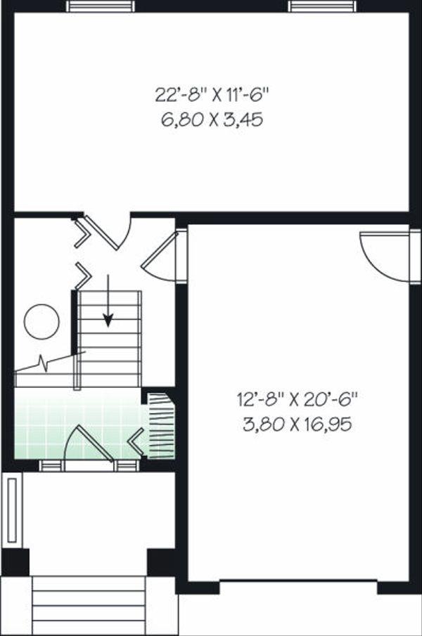 European Floor Plan - Lower Floor Plan Plan #23-747