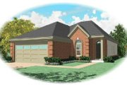 Traditional Style House Plan - 3 Beds 2 Baths 1692 Sq/Ft Plan #81-268 Exterior - Front Elevation