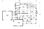 Traditional Style House Plan - 4 Beds 4 Baths 5342 Sq/Ft Plan #56-604 Floor Plan - Main Floor Plan