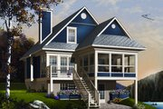 Beach Style House Plan - 3 Beds 2 Baths 1484 Sq/Ft Plan #23-866 Exterior - Front Elevation