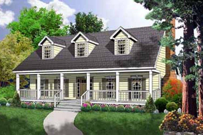 House Plan Design - Farmhouse Exterior - Front Elevation Plan #40-161